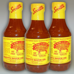 3 Bottles of Scott's BBQ Sauce – 16 fl oz each.